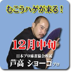 2008/12月 むこうハゲが来る!